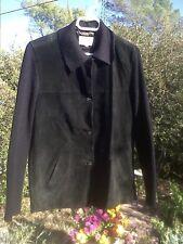 'Ici et Maintenant'-veste en cuir/tricot  bohème campagne