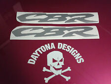 CBR SILVER LOWER FAIRING BELLY PAN CUSTOM GRAPHICS DECALS STICKERS