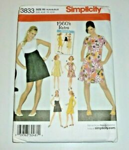 1960's Vintage Retro Dress Costume Sewing Pattern Cosplay Plus size Miss 14-22