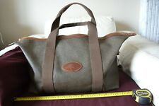 Mulberry BAG Holdall travel Weekend Unisex Clipper Khaki Green Oak leather trim