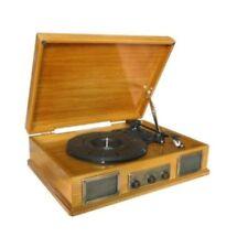 Steepletone USB Norwich Rétro Bois Clair Disque / MP3 Lecteur & Radio Fm