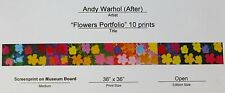 ANDY WARHOL 10 X POPPY FLOWERS SUNDAY B.MORNING SILK-SCREEN PORTFOLIO