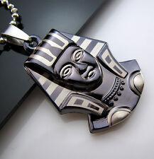 New Gift Unisex's Men's Titanium Steel Pendant Egyptian Pharaoh Necklace Chain