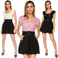 Womens Elegant Lace Dress Party Glam Metalic Look Short Sleeves Scoop Neck W59