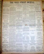 Orignal 1930 Wall Street Journal newspaper STOCK MARKET CRASH & GREAT DEPRESSION