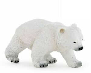 Papo 50145 Polar Bear Cub Walking 2 13/16in Wild Animals