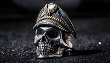 Great Honored Skull Ring Solid 925 Sterling Silver Skull Ring - Big & Heavy
