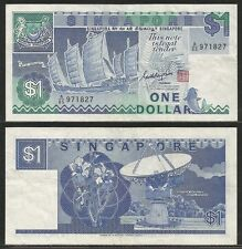 SINGAPORE - 1 Dollar 1987 VF  Pick 18a