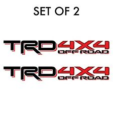 Set of 2: 2017-2018 TRD 4X4 offroad Toyota Tacoma Tundra bedside fullcolor decal