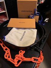 Louis Vuitton x Virgil Abloh SS19 SIGNATURE 35MM BELT 110cm 44 inch orange chain