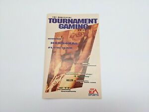 Vintage EA Sports 1993 The Unofficial Tournament Gaming Guide