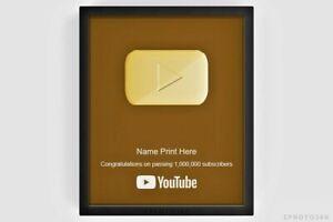 YouTube Gold Silver Play Button Replica Customizable Creator Award 2021