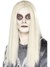 Ghost Town Mort-Vivant Indien Perruque Halloween Blanc Cheveux Longs