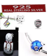 GENUINE 925 Silver Sterling Charms 4 European bracelets