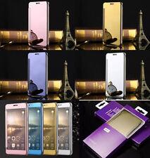 DE LUJO ESPEJO Inteligente Vista Transparente LIBRO Funda teléfono para Samsung