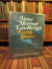 1969 SIGNED Anne Morrow Lindbergh EARTH SHINE Rare Old Book First Edition in DJ