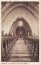 Église BAIE DES SABLES Quebec Canada 1930-40s Intaglio Gravure Ltd. Postcard