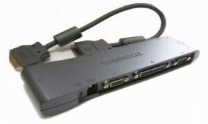 Toshiba Portege 3440CT 3480CT 3490CT Port Repl I/O Adapter VGA PS/2 Serial LAN