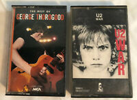 2 Cassette Tapes U2 War - George Thorogood The Best Of.  Tested. 1983 1986