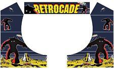 Retrocade Space Invaders Arcade Side Art Arcade Cabinet Graphics Marquee