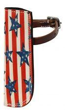 Horse Pony Parade Rodeo Leather Flag Holder Attaches 2 Saddle USA Stars Stripes