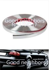 Car Auto Chrome DIY Moulding Trim Strip For Window Bumper Grille 3M 8mm Silver