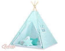 Bobono Children Kids Play Teepee Tent - Mint Chevron