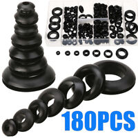 180Pcs Rubber Grommet Assortment Kit Firewall Hole Electrical Wiring Gasket Plug