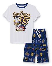 Size 8 Medium Boys Pajamas Set Shirt & Shorts Sports Theme Football Joe Boxer M