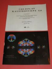 Set of 2 Coldplay - Promotional Sheet of 12 Stickers for Kaleidoscope EP unused