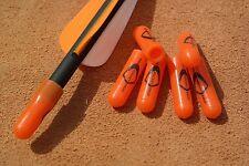 6 x Genuine US Pocket Shot ® Orange Arrow Nock Caps - catapult slingshot