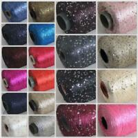 Sale 1 Cone 500gr Nylon Polyester Sparkly Hand Knitting Sequin Crochet Yarn F