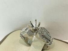 14 K White Gold Semi mount Ring, VS2,F.size 5.5.