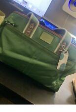 Coach Hamptons Weekend Green and Leather Tote Handbag