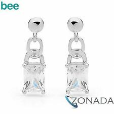 Classic white Simulated Diamond 925 Sterling Silver Studs Earrings 35340/*