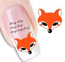 Nail Art Sticker Water Decals Transfer Stickers Fox Foxes Rhymes (DX1290)
