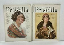 "Two ""Modern Priscilla"" Magazines from Sept. & Dec. 1926 - Vintage Ads"
