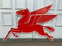 """Mobil Gas Flying Red Horse Pegasus Metal Heavy Steel Sign Extra Large 35"""" Oil"""