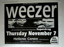 Weezer 1996 Original Vintage Concert Poster w/ Superdrag