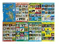 8 x CHILDRENS EDUCATIONAL ANIMAL POSTERS -  SCHOOL  OR HOME USE - A2 SIZE