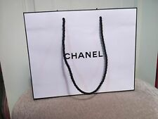 """Authentic CHANEL Shopping Paper Bag Gift Tote 10"""" x 8"""" White"""