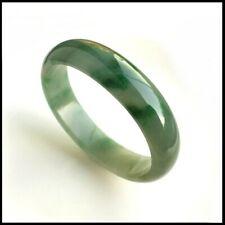 【KOOJADE】Emerald Green Jadeite Oval Bangle Bracelet《51.5~52.1mm》《Grade A》