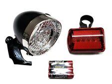 Kit Luci LED Bicicletta,Fanale anteriore e Faro STOP posteriore,Batterie incluse