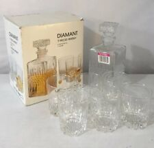 LUMINARC FRANCE 7 Piece Bar Set Vintage NEW BOXED Decanter / Glasses Whisky