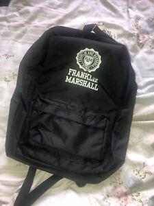 Franklin Marshall Bag Backpack Black Designer Bnwt Mens Womens Unisex Rucksack
