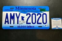 Amy Klobuchar Beckett Signed Minnesota License Plate Rare Metal President 2020??