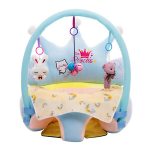 Baby Sofa Support Seat Cover Learning To Sit Plush Chair Case No Filler S1