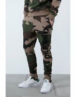 NWT Defend Paris Men's Jogger Army Camo TERRY Sweatpants FITTED #76 M-3XL