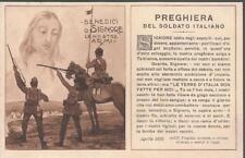 CARTOLINA NON VIAGGIATA _ PRIMA GUERRA MONDIALE _ PREGHIERA DEL SOLDATO ITALIANO