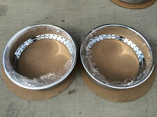 (2) 18x4 Work Aftermarket Replacement outter lips Polish 40 Hole VSXX VSKF Equip
